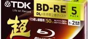 TDK 録画用ブルーレイディスク BD-RE DL 50GB ホワイトワイドプリンタブル 5枚パック BEV50PWA5S