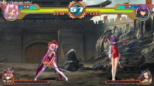 真・恋姫†夢想ARCADE EDITION 孫権(蓮華) VS 甘寧(思春)